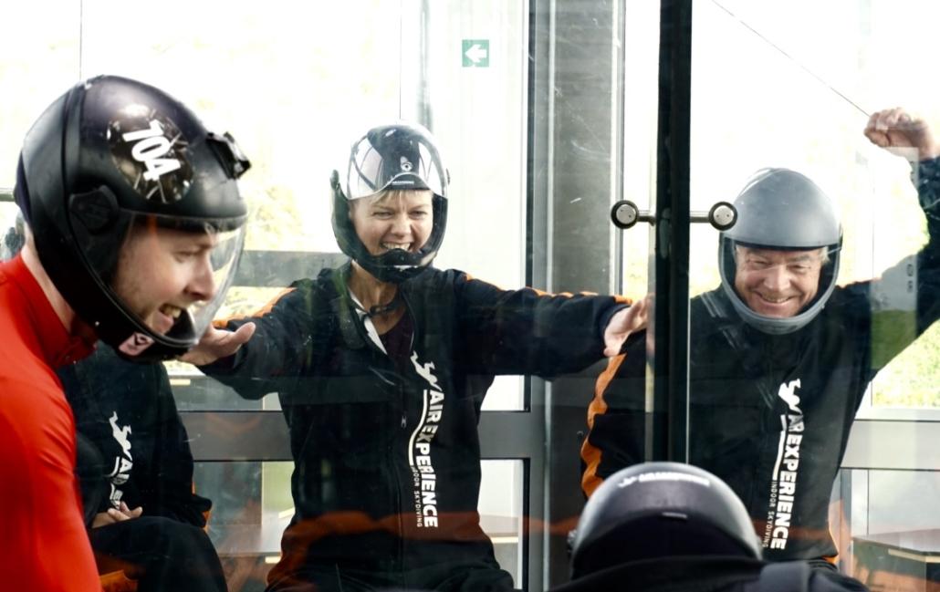 Oplevelsesrigt Firmaevent Teambuilding Indoor Skydiving