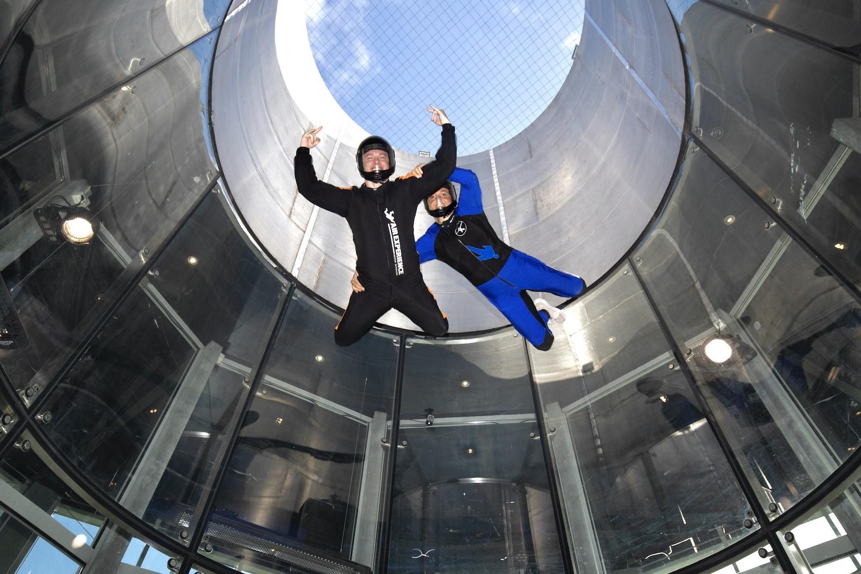 Den vildeste blå mandag Indoor Skydiving hos Copenhagen Air Experience
