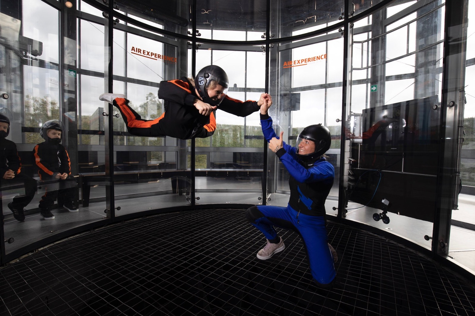 The indoor skydiving experience at Copenhagen Air Experience